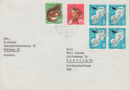 Enveloppe   SUISSE   Timbres   PRO  JUVENTUTE   1966 - Lettres & Documents