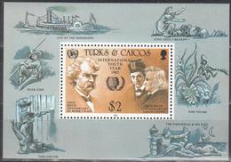TURKS AND CAICOS    SCOTT NO 675    MNH     YEAR  1985   SOUV. SHEET - Turks And Caicos