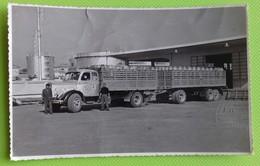 Cartolina CAMION - AGIP GAS - Trasporto Bombole - Bianco E Nero - Cartoline