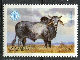 Zambia 1987 K20  Bull Issue #421 - Zambia (1965-...)