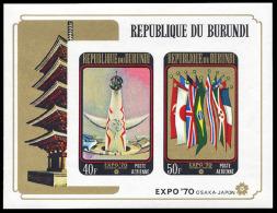 Burundi BL 0039A** Non Dentele  -  Exposition Osaka -  MNH - Burundi