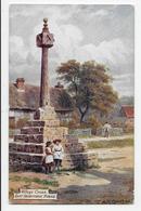 East Hagbourne - Village Cross - A.R. Quinton - Tuck Oilette 9535 - Sundial - Inghilterra