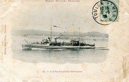 Militaria Marine Militaire Francaise L'aviso Torpilleur Espingole Circulee En 1905 - Warships