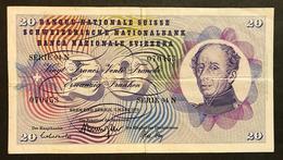 Svizzera 20 Francs Franken Franchi 1973 LOTTO 660 - Svizzera