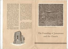 Dépliant Touristique , Etats Unis , 4 Pages , THE FOUNDING OF JAMESTOWN AND THE CHURCH , 2 Scans , Frais Fr 1.45 E - Dépliants Turistici