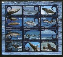 Aitutaki 2012 Whales & Dolphins Marine Life Sc 593 Sheetlet MNH # 9632 - Dolphins