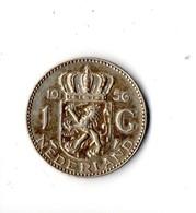 PAYS-BAS . NEDERLAND . 1 GULDEN 1956 . ARGENT - Réf. N°125B - - [ 3] 1815-… : Kingdom Of The Netherlands