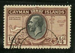 Cayman Islands 1935 1/4p Map Issue #85 - Iles Caïmans