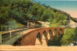 FRANCE -  Aix-Les-Bains.  Chemin De Fer Du Revard - Le Viaduc By LL. VG Train On Bridge Etc - Seilbahnen
