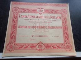 UNION ALIMENTAIRE DE LA COTE D'OR (dijon) - Shareholdings