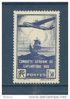"FR YT 320 "" Traversée Atlantique Sud "" 1936 Neuf** - Frankreich"