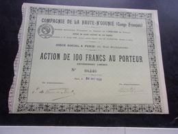 Compagnie De La Haute N' Gounié (congo Français) 1920 - Shareholdings
