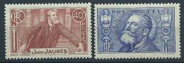 "FR YT 318 & 319 "" Mort De Jean Jaurès "" 1936 Neuf** - France"
