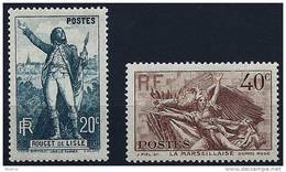"FR YT 314 & 315 "" 100 Ans Mort De Rouget De Lisle "" 1936 Neuf** - France"