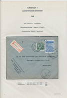 26/437 - Lettre Recommandée TP Exportation TURNHOUT 1949 Vers ANTWERPEN - TARIF 5 F 75 - 1948 Export