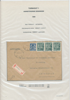 26/438 - Lettre Recommandée TP Exportation TURNHOUT 1950 Vers ANTWERPEN - TARIF 5 F 75 - 1948 Export