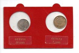 GUYANA . 10 CENTS 1991 & 5 CENTS 1990 - Réf. N°3B - - Guyana