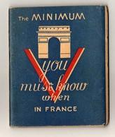 Paris Revue Traduction Français Anglais Un Minimum De Conversation Franco Anglaise ( 13 X 11 Cm ) 1944  12 Illustrations - Tourism