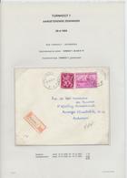 26/439 - Lettre Recommandée TP Exportation Et Lion V TURNHOUT 1950 Vers ANTWERPEN - TARIF 5 F 75 - 1948 Export