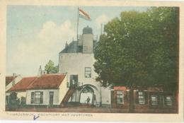 Harderwijk 1931; Vischpoort Met Vuurtoren - Gelopen. (A.J. Wuestman - Harderwijk) Lees Info! - Harderwijk