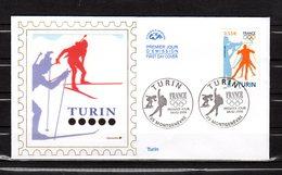 """FRANCE 2006 """" J.O. DE TURIN """" Sur Enveloppe 1er Jour.  N° YT 3876. Parfait état. FDC - Winter 2006: Turin"""