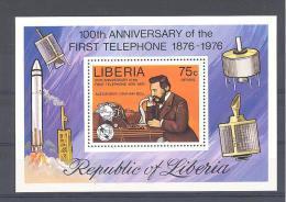 LIBERIA  Michel #  Block  81 **    Graham Bell - Space