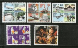 Barbuda 1977 Navigable Airships Zeppelin Space Rubens Anniv. Sc 318-22 MNH # 904 - Zeppelins