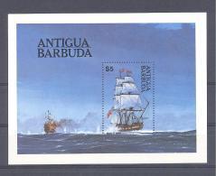 Michel #  Block 75   **   Man 'O War  Kriegs  Segelschiff - Antigua And Barbuda (1981-...)