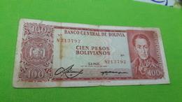 BOLİVYA 100 PESOS - Monnaies & Billets