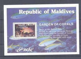 Maldives   Michel #  Block 31 **   Koral Garten  Garden Of Corals - Maldives (1965-...)