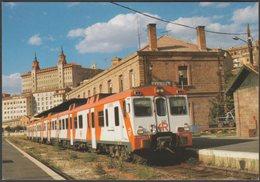 Automotor 592-005-3, Estación De Teruel, Aragón - Eurofer Amics Del Ferrocarril Tarjeta - Trains
