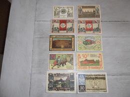 Notgeld  Noodgeld Duitsland  - Lot Van 10 Biljetten  Lot De 10 Billets - [11] Lokale Uitgaven