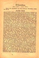 Weltumschau/ Artikel, Entnommen Aus Kalender / 1884 - Books, Magazines, Comics