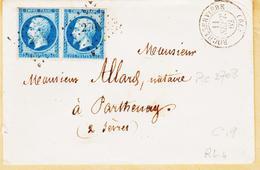 France,szur N°14  Double Port De Rocheserviere, 79,  En 1862, Pc 2708  ( Coef 9) - 1849-1876: Période Classique