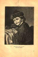 Willst Du Auch Einmal ? / Druck, Entnommen Aus Kalender / 1884 - Books, Magazines, Comics