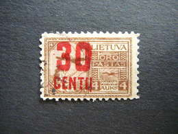 Lietuva Litauen Lituanie Litouwen Lithuania # 1922 Used # Mi. 183 - Lithuania