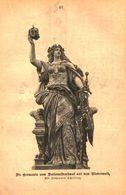 Die Germania Vom Nationaldenkmal Auf Dem Niederwald / Druck, Entnommen Aus Kalender / 1884 - Books, Magazines, Comics