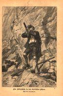 Ein Adlerschuetz In Den Bairischen Alpen/ Druck, Entnommen Aus Kalender / 1884 - Books, Magazines, Comics