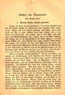 Luther Als Hausvater/ Druck, Entnommen Aus Kalender / 1884 - Books, Magazines, Comics