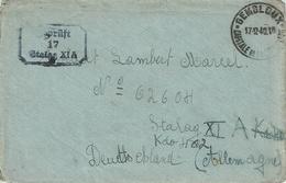 Lettre De GEMBLOUX-Capitale De La Coutellerie Du 17-12-40 à LAMBERT Marcel - STALAG XI A Kdo 402 + Censure - Guerre 40-45