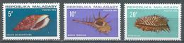 Madagascar YT N°477/479 Coquillages Neuf ** - Madagascar (1960-...)