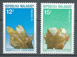 Madagascar YT N°482/483 Minéraux Neuf ** - Madagascar (1960-...)