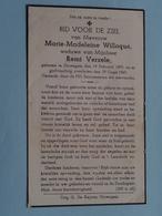 DP Marie-Madeleine Willoqué ( Remi Verzele ) Ouwegem 19 Feb 1879 - 29 Oogst 1947 ( Zie/voir Photo ) ! - Overlijden