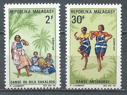 Madagascar YT N°443/444 Danses Folkloriques Neuf ** - Madagascar (1960-...)