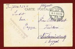 Feldpost  Soldaten Briefstempel  II Batl. Res. Inf. Regt Nr 244  Feldpostexpedition De  Reserve -Division - WW I