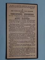 DP Theophiel ZEGHERS ( Maria Martens ) Stekene 21 Oct 1850 - Temsche 20 Juli 1930 ( Zie/voir Photo ) ! - Overlijden
