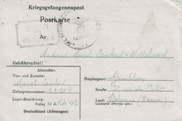 Kriegsgefangenenpost - Postkarte De Marcel LAMBERT (Stalag XI A Kdo 402 Du 22-12-40 à GEMBLOUX + Cachets Censure - Guerre 40-45
