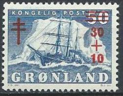 Groënland 1958 N°31 Neuf MNH Bateau Surchargé Avec Surtaxe Pour Les Tuberculeux - Nuovi
