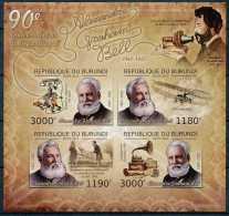 D- [32227] ND/Imperf-BURUNDI 2012 - Alexandre Graham Bell, Scientifique, Inventeur Du Téléphone - Télécom