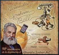 D- [32231] ND/Imperf-BURUNDI 2012 - Alexandre Graham Bell, Scientifique, Inventeur Du Téléphone - Télécom